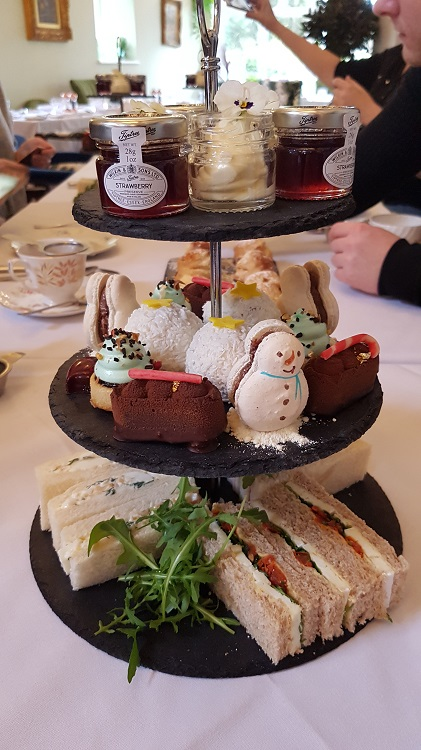 Afternoon tea on a stand