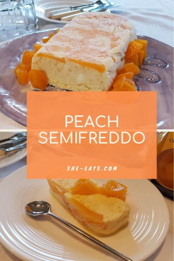 Peach semifreddo pinterest image