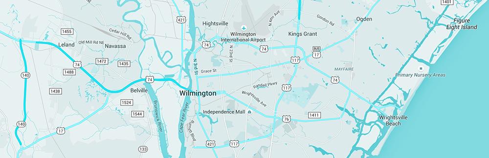 Wilmington Nc Map She Rocks
