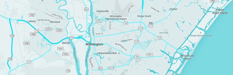 wilmington-nc-map