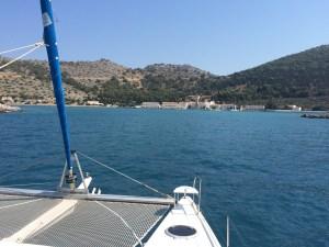 arrival in Ormos Panormiti on Symi island