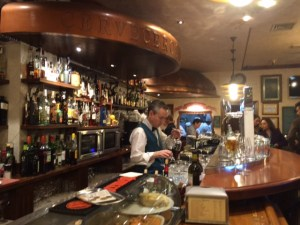 some very good beer in a very spanish Cruzcampo bar...