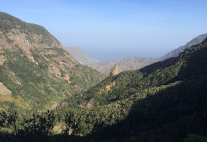 on La Gomera it goes either up or down