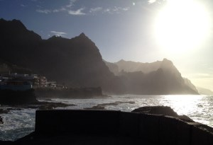 all the way in the northeast is  Ponta do Sol, here the sunset is beautiful