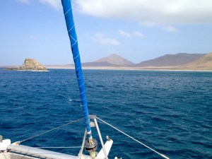 we arrive at the unhabited island of Santa Lucia and really - there is no one except us