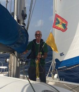 hissing the Grenada flag