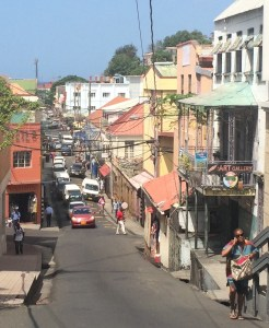 St. Georges colourful and partly steep streets are worth a visit