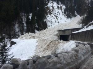 Avalanche Safien Graubunden Switzerland