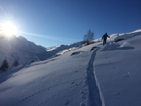 Ski mountaineering Avers Switzerland