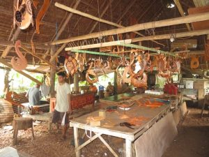 Kapingamarangi wood carving
