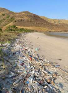 Plastic pollution of Banta's south beaches