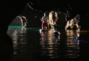 Paddling in Emerald Cave