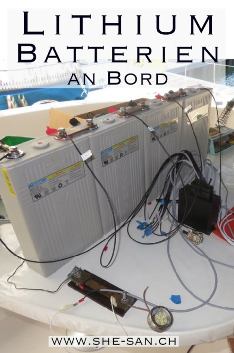Lithium Batterien an Bord selbst installiert