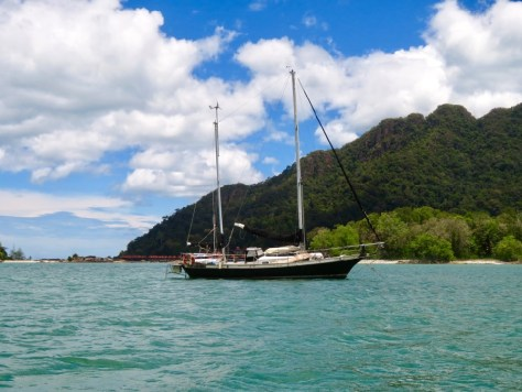 Everybody is happy that sailing yacht Huia is floating again