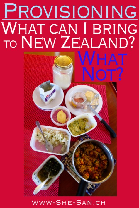What food can you bring to New Zealand, what not?