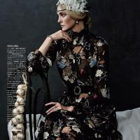 Caroline Trentini In Royal Style At Vogue Japan