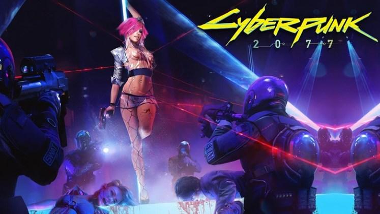 Cyberpunk 20877 violent strip club