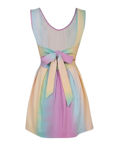 Rainbow Tie Dye Skater Dress £50 from Lashes of London