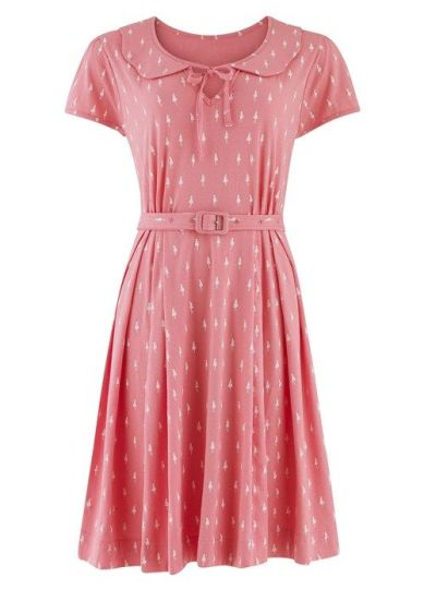 Collar Dress in Pink £85 from Orla Kiely for People Tree