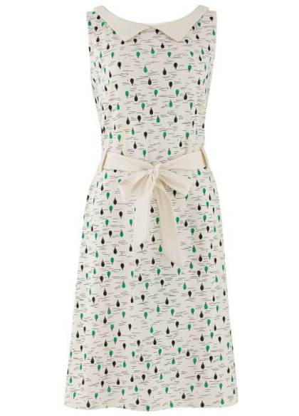 Evette Dress in Green Balloon Print £45.50 (was £65) from People Tree