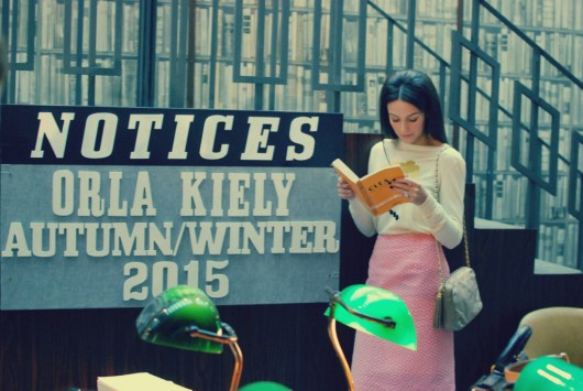 Orla Kiely Autumn/Winter 2015 | London Fashion Week | #allquietinthelibrary | Michelle Keegan