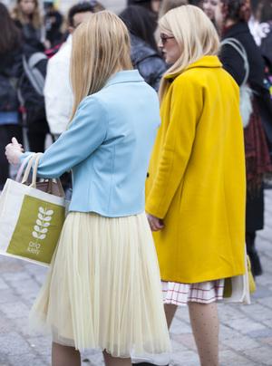 #LFW: Day 2 Street Style | Twinning Pastels | She and Hem | 2015