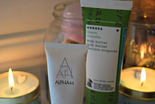 Alpha H Moisturiser and Korres Body Butter, Bath and Unwind | She and Hem
