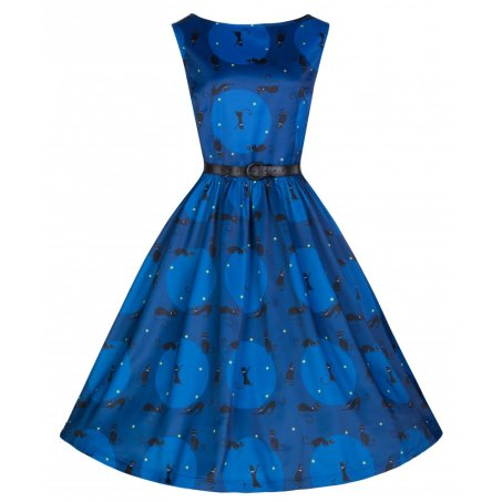 'Audrey' Retro Black Cat Print Swing Dress £29.99 from Lindy Bop