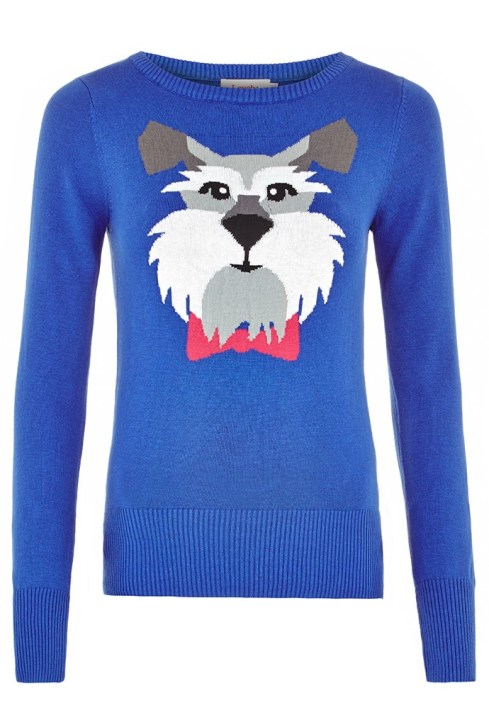 Schnauzer-Dog Intarsia Jumper £45 from Louche at Joy