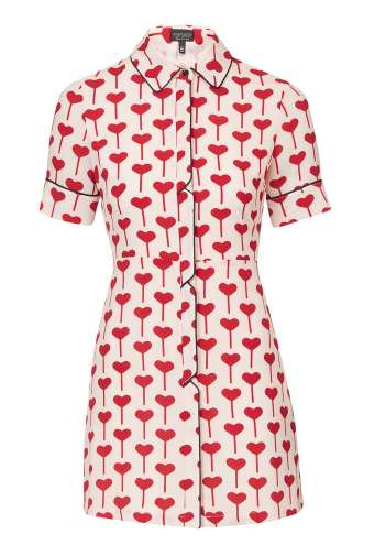 Heart Print Shirtdress £48 from Topshop