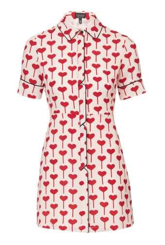 Heart Print Shirtdress £48 from Topshop