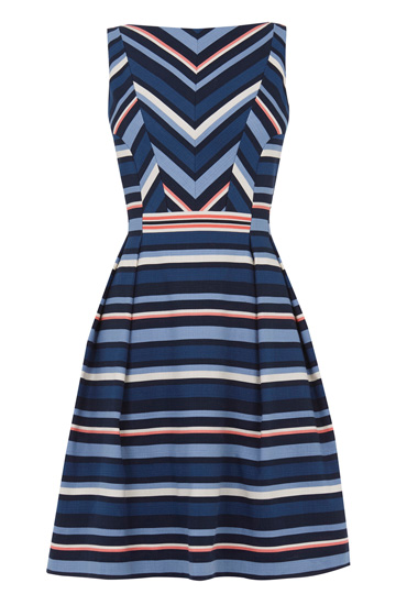 Chevron Stripe Dress £60 from Oasis