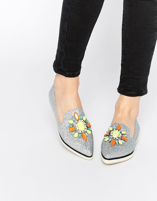 ASOS METAPHOR Embellished Flat Shoes | ASOS | She and Hem
