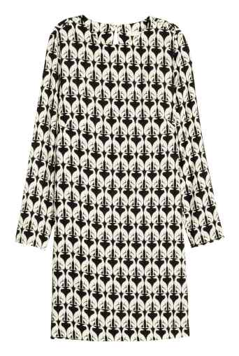 Patterned Dress in Black Dog £14.99 from H&M