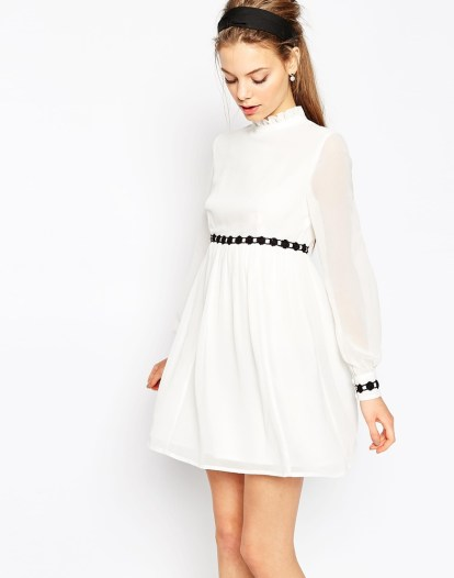 Contrast Trim Baby Doll Dress £38 from ASOS
