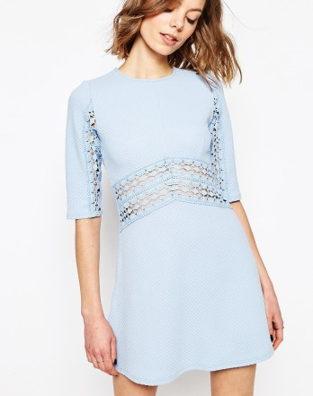 Skater Dress With Lace Insert £35 from ASOS