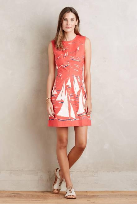 Boat Print Poplin Dress £108 from Anthropologie