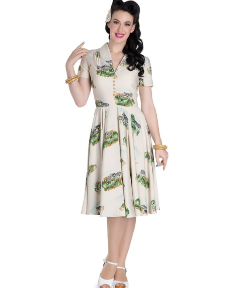 Safari Print Dress £55 from Hell Bunny at Aspire Style