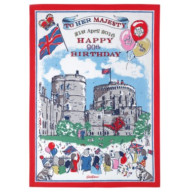 The Queen's 90th Birthday Tea Towel £10 from Cath Kidston