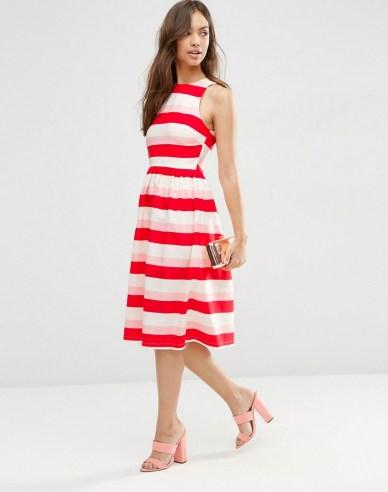 She and Hem | Midi Dress in Stripe £45 from ASOS