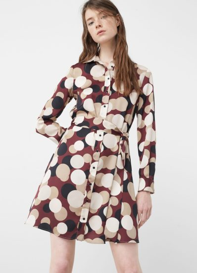 Printed shirt dress £49.99 from Mango