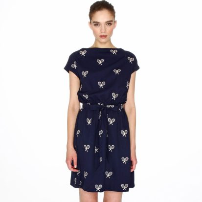 Short-Sleeved Dress Embroidered with Tennis £89 from La Redoute