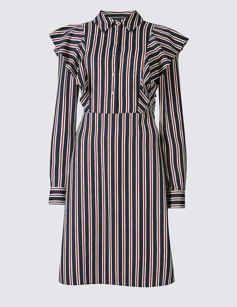 Ruffle Striped Shift Dress £45 from M&S