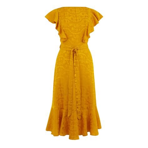 Jacquard Midi Dress £69 from Warehouse | She and Hem | Double Thumbs Dresses #92