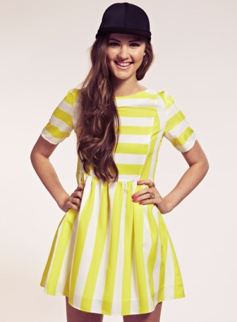Phoebe Neon Yellow Stripe Skater Dress £30.00 (was £62.00) from Dahlia