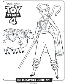 Toy Story Coloring Pages Bo Peep