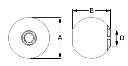 Ball-Thumbnut-Dimensions