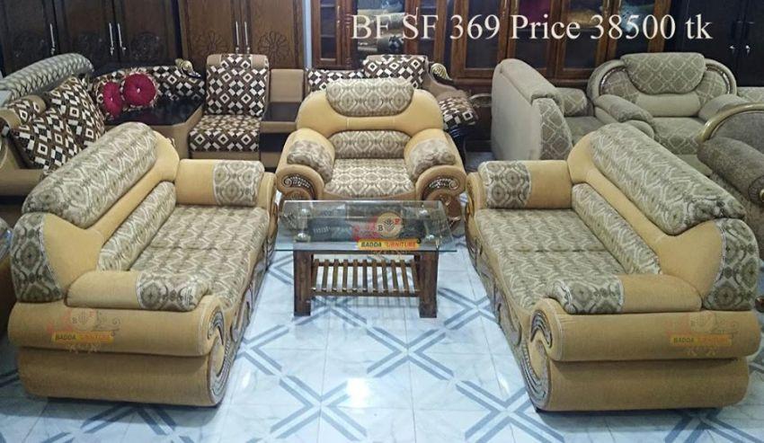 আকর্ষণীয় সোফা সেট ফার্নিচার ৫ – Badda Furniture