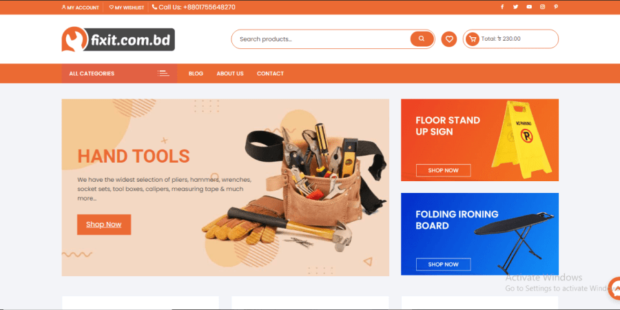 fixit.com.bd - The first online hardware store in BD