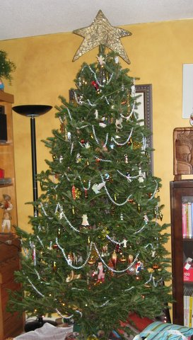 This year's xmas tree (post-gift opening) -